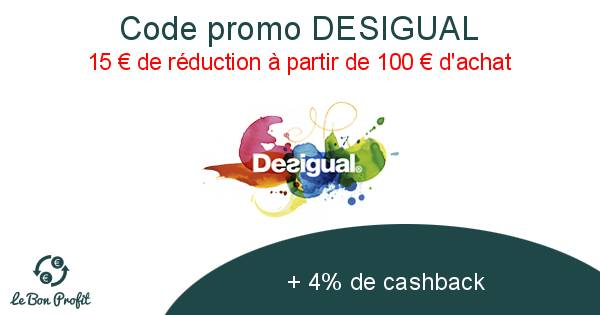 buying now available shop Code promo DESIGUAL - Le Bon Profit