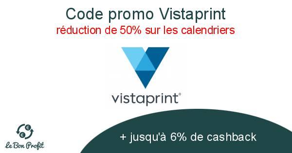Calendrier Vista Print.Code Promo Vistaprint Le Bon Profit