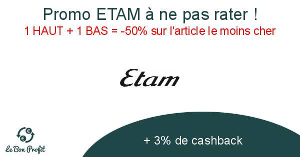 Promo ETAM à ne pas rater !
