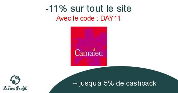 -11% sur tout le site Camaieu