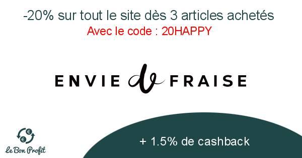 -20% sur tout le site dès 3 articles achetés