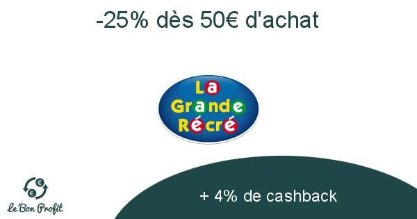 -25% dès 50€ d'achat